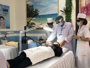 Chuyển giao kỹ thuật theo đề án 1816 của Bộ Y tế tại Bệnh viện Da liễu Quảng Nam